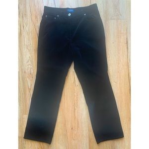 Ann Taylor size 8 petite black velour trousers